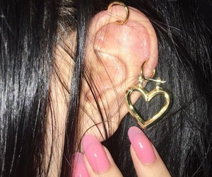 earrings, icon, and nails image