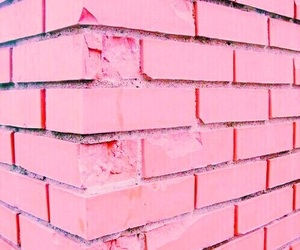 pink, aesthetic, and wall image