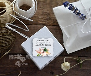 floral, tags, and thanks image