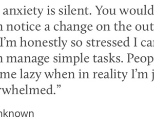 anxiety, sad, and thought image