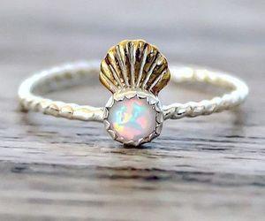 mermaid, ring, and anillo image