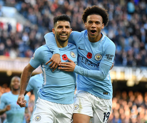 sane, manchester city, and aguero image