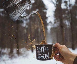 coffee, winter, and snow image
