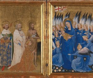 altar, angels, and blue image