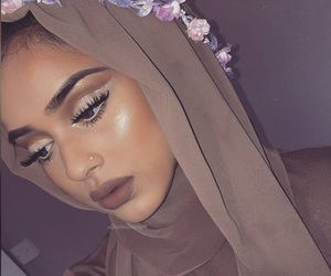 girl, hijab, and muslim image