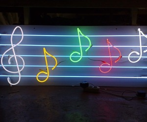 glow, light, and neon image