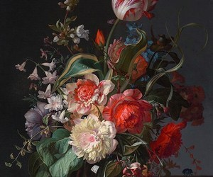 Rachel Ruysch, 'Flowers in a Glass Vase with a Tulip, 1716