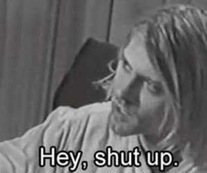 kurt cobain, nirvana, and shut up image