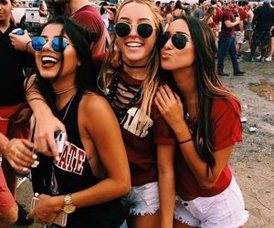 friends, girl, and festival image