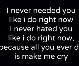 broken heart, cry, and hate you image