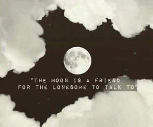 moon, quotes, and black image