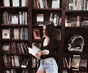 books, girl, and fashion image