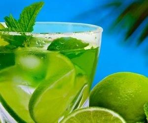 background, drink, and lemon image