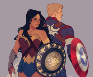 DC, Marvel, and captain america image