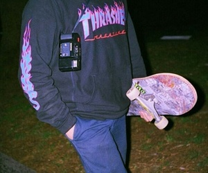 grunge, skateboard, and thrasher image