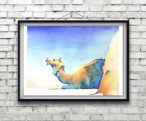animal art, etsy, and colorful art image