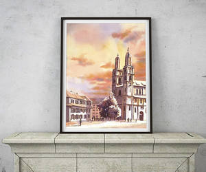 watercolor giclee, church painting, and etsy image