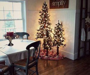 christmas, christmas lights, and christmas tree image