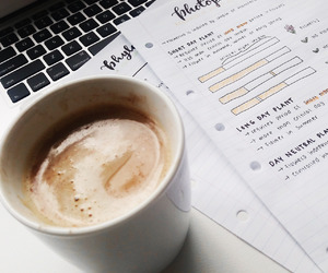 coffee, college, and school image