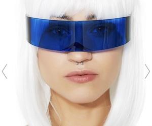 futuristic, sunglasses, and hair image