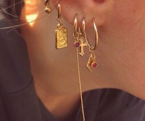 accessories, earings, and edge image