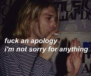 anything, apology, and kurt cobain image