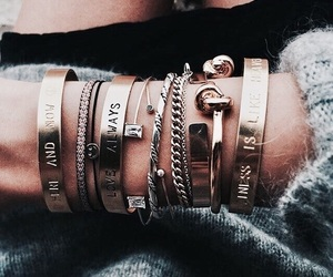 fashion, bracelet, and girl image