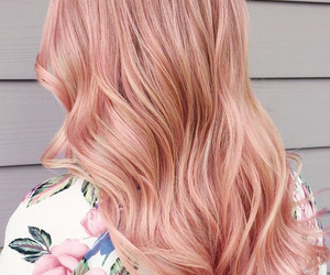 hair, pink, and rose gold image