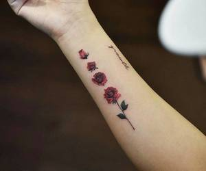 ink, quote, and rose image
