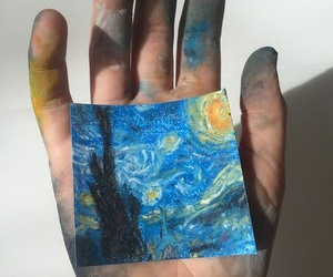 art, hand, and painting image
