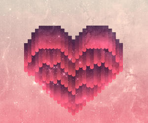 heart, art, and pink image