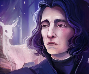 harry potter and severo snape image