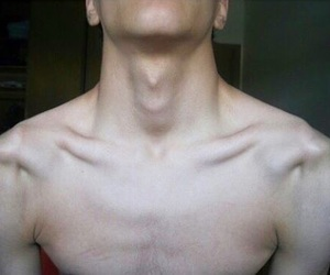 big, collarbones, and muscles image