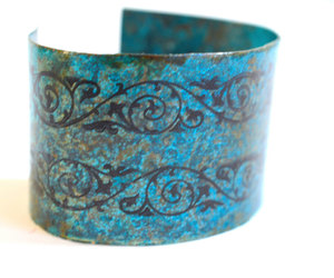 etsy, bohemian bracelet, and hand painted image