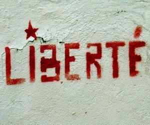 freedom, liberté, and wall quote image