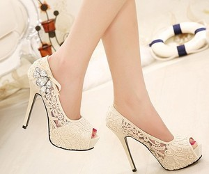 lace, lace shoes, and pretty image