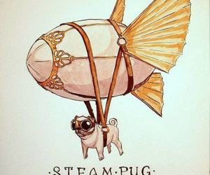 pug, dog, and steampunk image