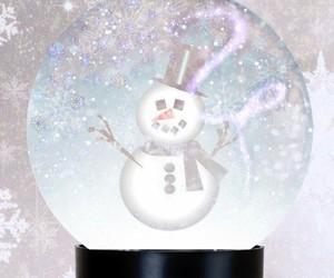 christmas, snow, and snow globe image