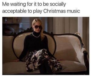 christmas, funny, and music image