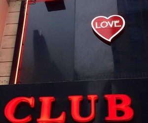club, red, and love image