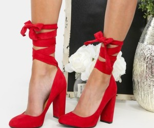 bow, heels, and red image
