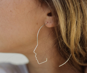 earring, girl, and her image