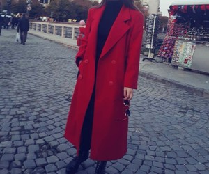autumn, red, and coats image