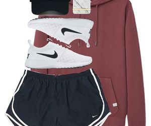 casual, nike, and school image
