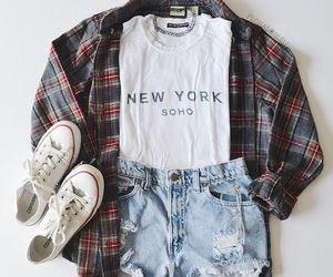 casual, outfit, and style image