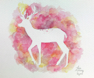 animals and watercolor image