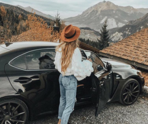 car, fall, and style image