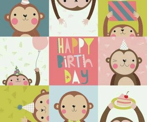 cumpleaños, monos, and celebracion image