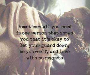 love, quotes, and no regrets image