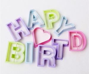 pastel, hbd, and birthday image